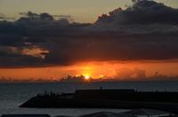 トロピカルビーチの夕暮れ