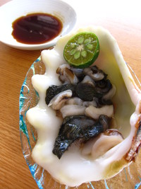 ヒメシャコ貝のお刺身 2011/09/04