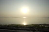 夕焼けと備瀬崎の海