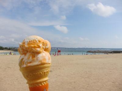 アイスとビーチ2