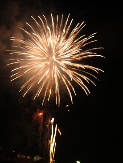 糸満ふるさと祭りの花火1 2011/07/24