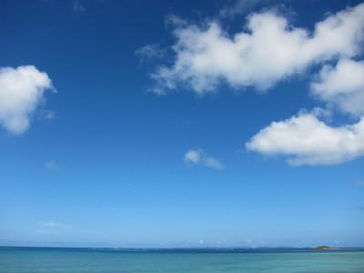 美々ビーチからみえる空 2011/07/30