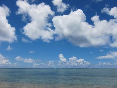 沖縄の海と空 場所不明